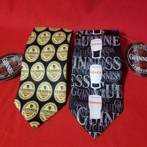2 Guinness BEER Neck Ties